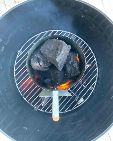 big boy hardwood charcoal, lifestyle photo, from barbecues galore