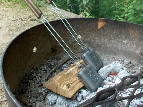 Pie Irons in a Fire