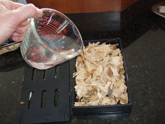 Add Water to Wood Chips - Add Enough that Wood Chips are Moist