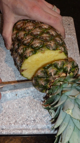 Cutting Off the top of the Pineapple