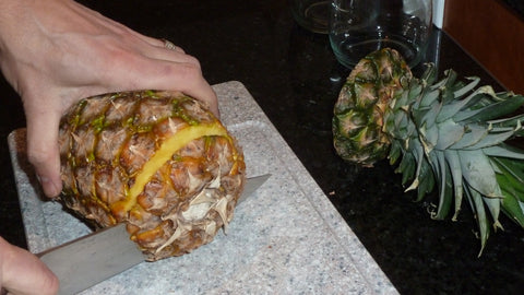 Cutting off the Bottom of the Pineapple