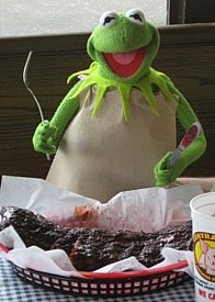 The Hot Line November 2008 | Green Grilling - Kermit the Frog Eating Ribs