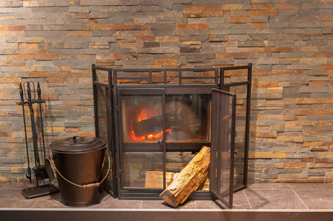 Hearth Pro Fireplace Screen with Doors Open