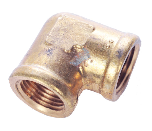 "Brass Fitting - 100C 3/8"" Female to 3/8"" Female Pipe Thread Elbow"