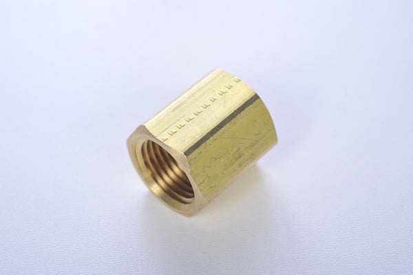 BRASS COUPLING - FEMALE PIPE THREAD TO FEMALE PIPE THREAD
