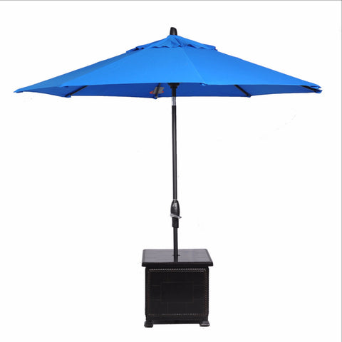 1068UE2490 Gensun Cast Aluminum Storage End Table With Umbrella Hole