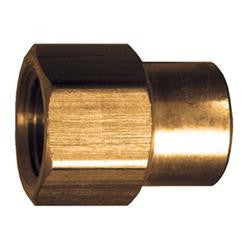 "Brass Reducing Coupling - 1/2"" to 3/8"" Female Pipe Thread 
