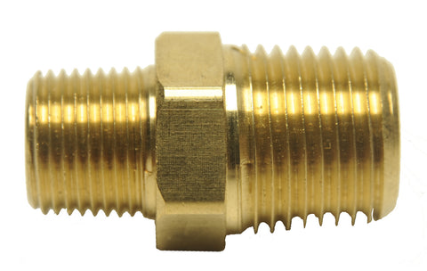 BRASS FITTING - MALE TO MALE PIPE THREAD