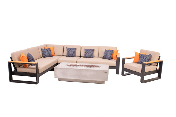 1867 Nanton 5-Pc Sectional Patio Furniture Set | Barbecues Galore