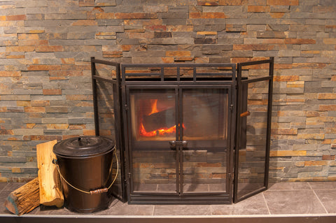 Hearth Pro Fireplace Screen with Doors Closed
