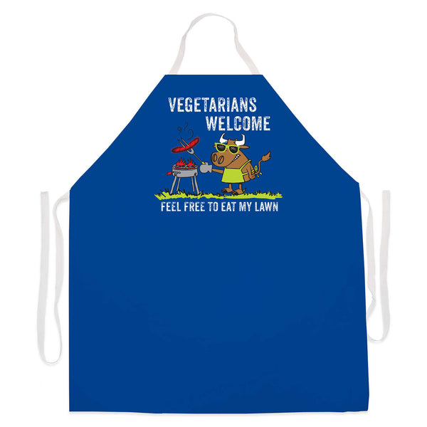 Novelty Grilling Apron - Vegetarians Welcome