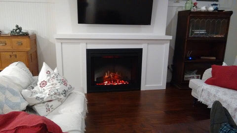 "Dimplex DF3015 30"" Self Trimming Electric Fireplace Insert"