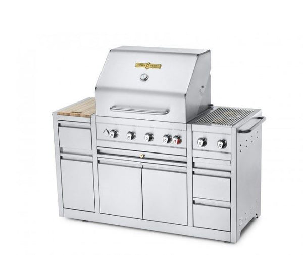 "Crown Verity Estate Elite 30"" Island Grill - Natural Gas 