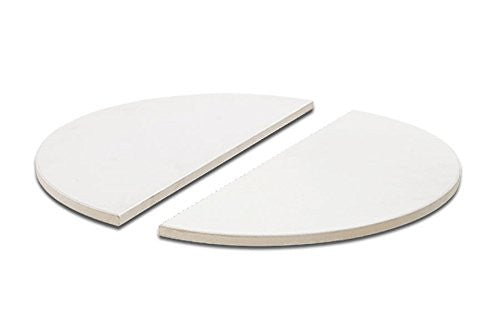 Kamado Joe Half Moon Deflector Plates - Classic Joe | Barbecues Galore