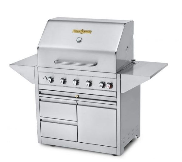 "The Crown Verity Estate Elite 36"" Cart Grill.  Made from head to toe with quality #304 stainless steel.  This grill is designed to last a long time, and grill just about anything you put in its path.  Get yours this summer at Barbecues Galore: Burlington, Oakville, Etobicoke & Calgary"
