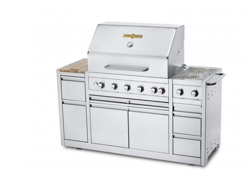 "Crown Verity Estate Elite 36"" Island Grill - Natural Gas 