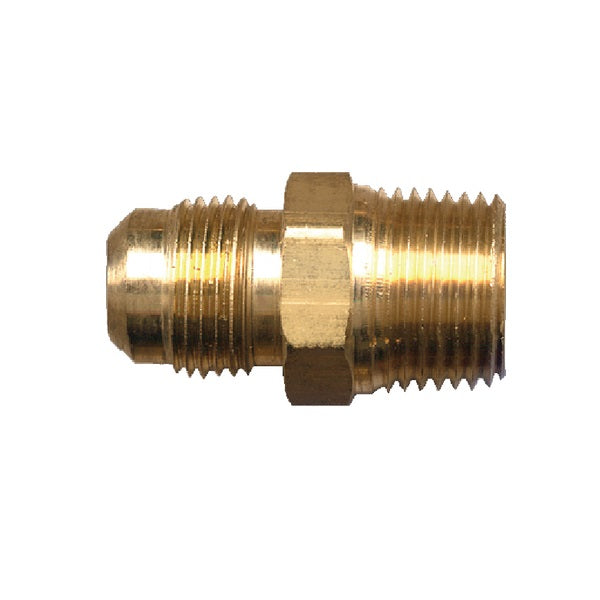 "Brass Fitting - 486C 3/8"" Male Flare to 3/8"" Male Pipe Thread"