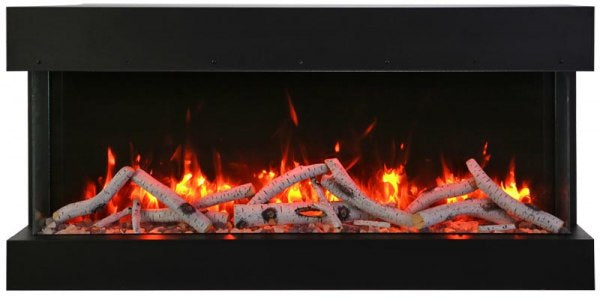 "Amantii Tru-View 50"" 3-Sided Linear Electric Fireplace"