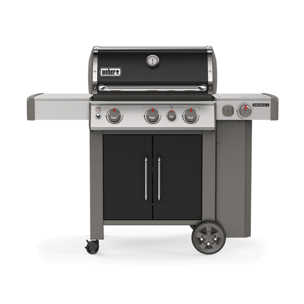 Weber Genesis II E-335 – Propane | A side burner, searing station and three main burners. This bbq has it all for a truly unforgettable summer bbq | Barbecues Galore in Calgary, AB and Oakville, Burlington and Etobicoke, ON