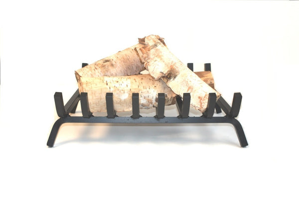 "Anvil 22"" Wrought Iron Wood Cradle Log Grate"