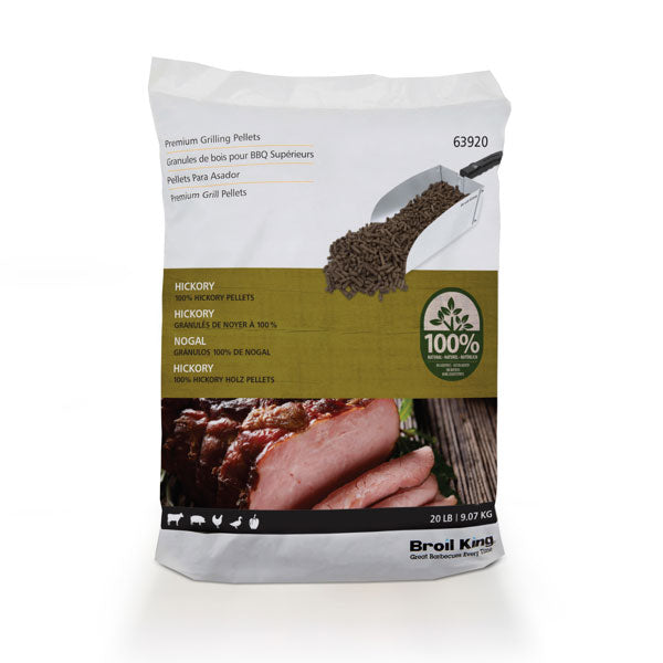 Broil King Pellets - 100% Hickory - 20lb Bag