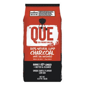 Que White Oak Lump Charcoal - 10 lb bag | Barbecues Galore