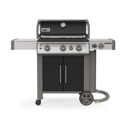 Weber Genesis II CSE-335 - Natural Gas l Packing some serious punch with three main burners, sear burner, 9mm stainless steel cooking grills and a free iGrill 3, this exclusive Weber grill has it all. Check it out at Barbecues Galore: Burlington, Oakville, Etobicoke, Calgary.