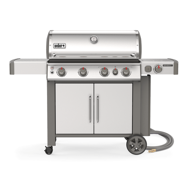 Weber Genesis II S-435 – Natural Gas | Enough bbq for you and all your very best friends, wrapped up in a shimmering stainless steel package. Throw in a sear burner and a side burner for good measure | Barbecues Galore in Calgary, Etobicoke, Burlington and Oakville
