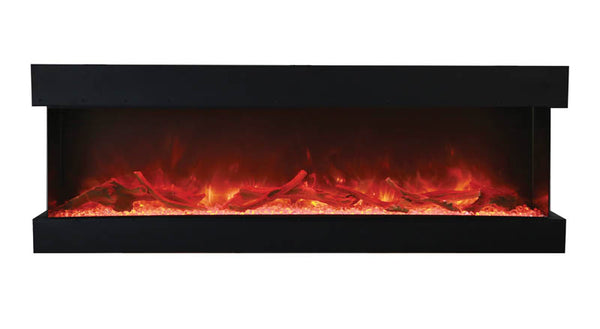 "Amantii Tru-View 72"" 3-Sided Linear Electric Fireplace"