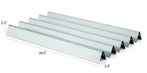 Weber 7540 Replacement Stainless Steel Flavorizer™ Bars with Dimensions
