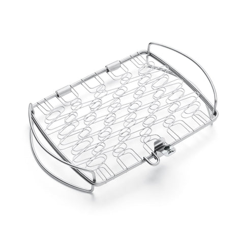 Weber Stainless Steel Fish Basket - Small | Barbecues Galore