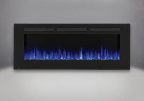 "Napoleon Allure 60"" Wallmount Electric Fireplace with blue light option 