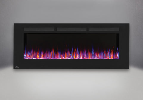 "Napoleon Allure 60"" Wallmount Electric Fireplace with blue & orange light option 