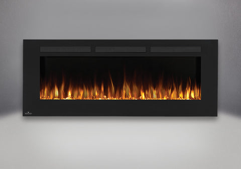 "Napoleon Allure 60"" Wallmount Electric Fireplace with orange light option 
