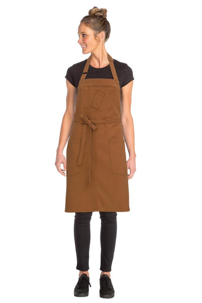 Chef Works Rockford Bib Apron - Nutmeg
