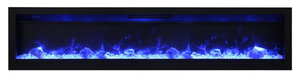 "Amantii Ambiance 74"" In-Wall Electric Fireplace"