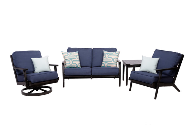 Plank & Hide Adeline Deep Seating Set - Spectrum Indigo
