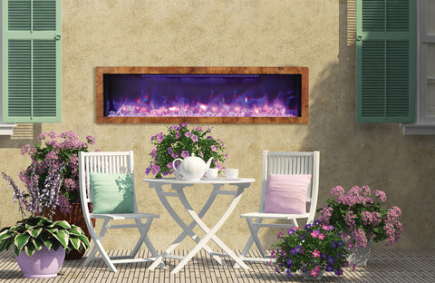 Amantii Panorama Series BI60-DEEP Electric Fireplace