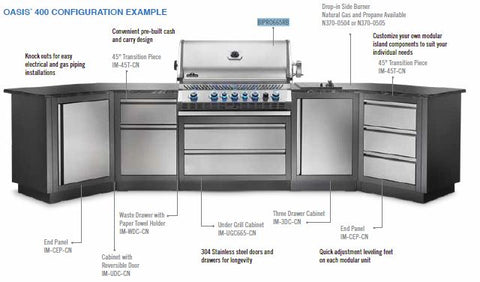 Napoleon Prestige Pro 665 Built-In grill is the perfect barbecue for a big family or cabin space. Affordable and beautiful outdoor kitchens at Barbecues Galore in Etobicoke, Oakville, Burlington and Calgary, Alberta.