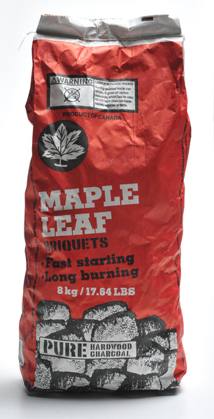 MAPLE LEAF CHARCOAL BRIQUETTES