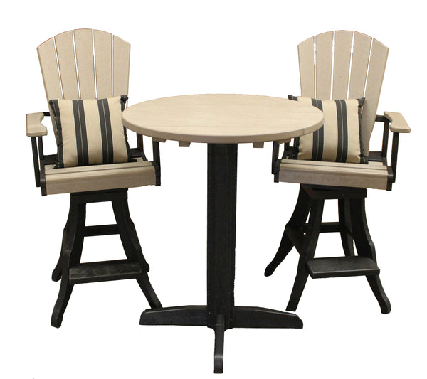 CRP Pub Set - Two Toned Black and Beige - Barbecues Galore
