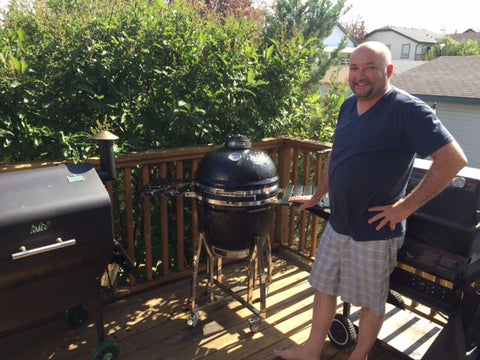"Barbecues Galore 2017 Contest Winner with Big Boy Kamado 21"" Charcoal Grill"