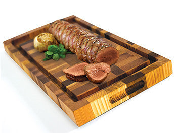 Broil King Cedar Cutting Board With Delicious Food