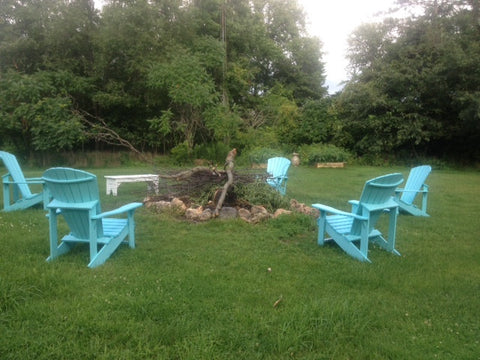 Collection of CRP Chair by a Firepit