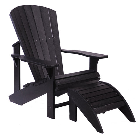CRP Adirondack Chair - Black