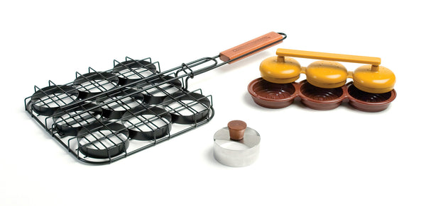Charcoal Companion Deluxe Mini Burger Set