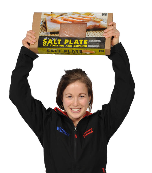 Charcoal Companion Himalayan Salt Plate with Barbecues Galore Employee