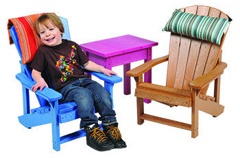 CRP Kids Adirondack Chair with a Comfortable Little Guy