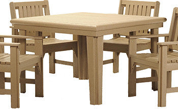CRP Square Dining Table and 4 Chairs - Beige