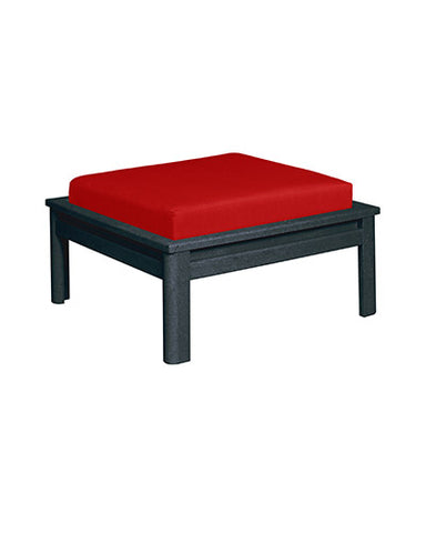 CRP Stratford Deep Seating Set Black Frame - Jockey Red Cushions
